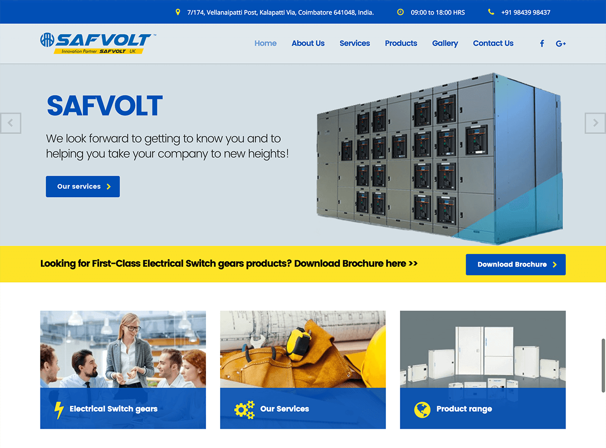 Electrical Switch gears Maufacturing company - Safvolt