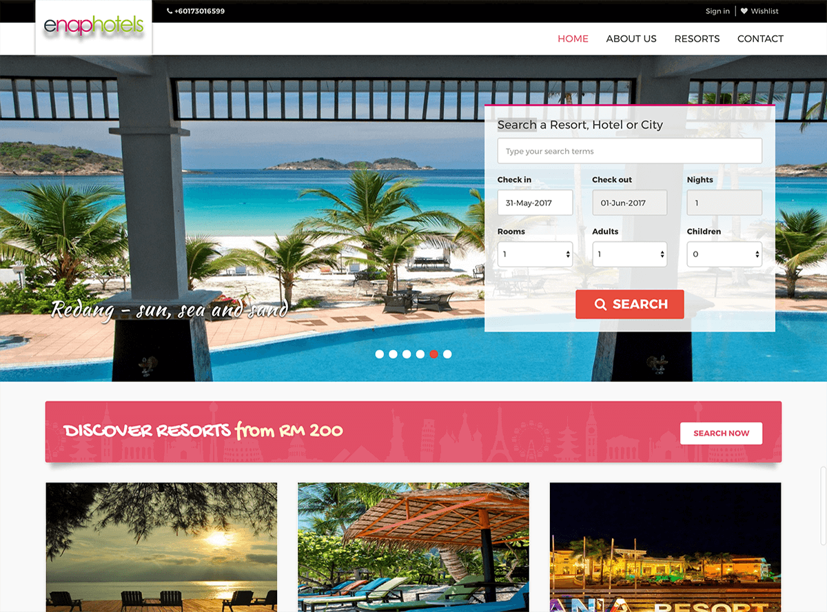 Hotel Booking Management - ENAP hotels